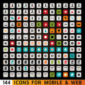 Universal Icons For Web and Mobile — Stock Photo