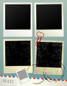 Vintage empty Photo frame Background. Vector Illustration. — Stock Photo