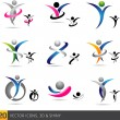 Royalty-Free Stock Vector Image: Fitness elements and logos