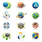 Vector colored spheres — Stock Vector
