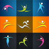 Fitness elements and logos — Foto Stock
