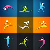 健身元素和徽标 — 图库照片