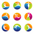 Fitness elements and logos — Stock Photo #21970179