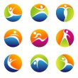 Fitness elements and logos - Stock Photo