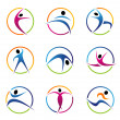 Fitness elements and logos — Stock Photo #21971233