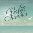 Perfect summer vector background - Stock Photo