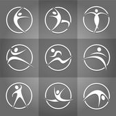 Fitness elements and logos Print — Stock Photo