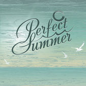Perfect summer vector background — Stock Photo