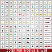 Icons For Web and Mobile — Stock Photo
