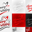 Happy Birthday — Vector de stock