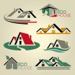 Real estate vector icons — Stock Vector