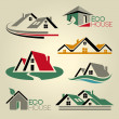 Real estate vector icons — Stock vektor