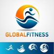 Vector de stock : Fitness element