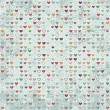 Vintage hearts paper texture — Stock Vector #26714453