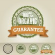 Organic food label — Image vectorielle