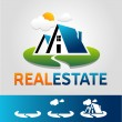 Stock Vector: Real estate vector icon