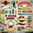 Vector set of retro ribbons and labels. — Stock Vector