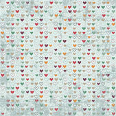 Vintage hearts paper texture — Stock Vector