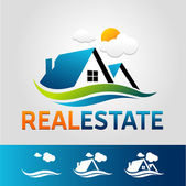 Real estate vector icon — Stock Vector