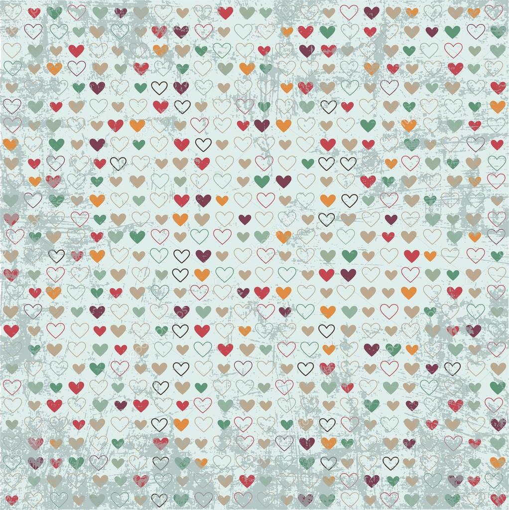 Vintage Hearts Vector Vintage Hearts Paper Texture