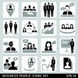 Business people icons set. — Stock vektor #28453051