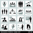 Business people icons set. — Vector de stock #28453051