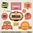 Set of retro labels and ribbons for vintage design — Stock Vector #28453125