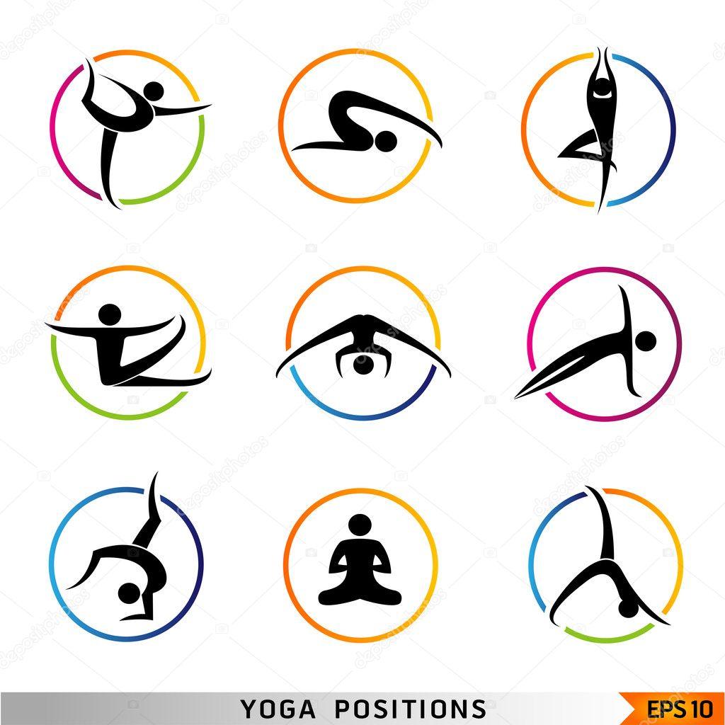 Yoga pilates set of vector symbols stock vector 169 brainpencil1