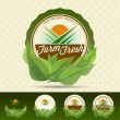 Vector de stock : Farm fresh food label.