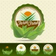 图库矢量图片: Farm fresh food label.