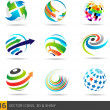 Vector de stock : Icon design elements