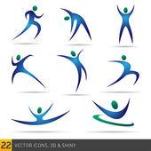 Fitness elements — Stock Vector