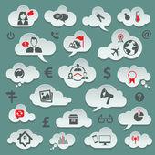 Set d'icônes de voyage — Vecteur