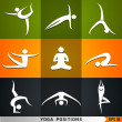 Yoga, pilates set of vector symbols — Stock Vector