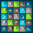 Fitness elements — Stock Vector