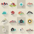 Real Estate web Icons set — Stock Vector