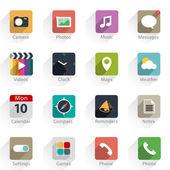 Web-icons und logos — Stockvektor