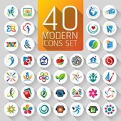Web Icons and logos — Stock Vector