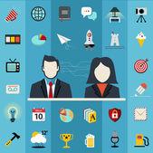 Business management symbols — Stock Vector