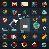 Web and technology development  symbols — Stock Vector
