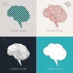 Brain Icons Set — Stock Vector #47134563