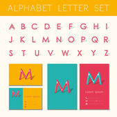 Alphabet letter set — Stock Vector