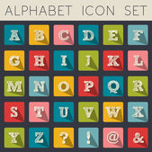 Alphabet icon set — Stock Vector