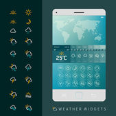 Weather Widget Symbols — Stok Vektör