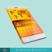 Modern Weather Widget Symbols — Stock Vector