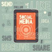 Sociální média znamení — Stock vektor