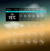 Weather Widget Symbols — Stock Vector