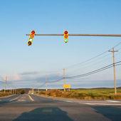 Traffic Light at Sunset — Stock Photo