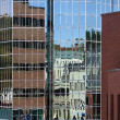 Glass Building Reflections, St. John's, Newfoundland, Canada — Stock Photo