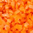 Chopped carrot — Stock Photo